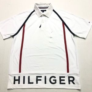 Tommy Hilfiger Spellout Polo Mens Size Large
